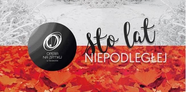 Wspólne śpiewanie 11 listopada w Operze na Zamku w Szczecinie