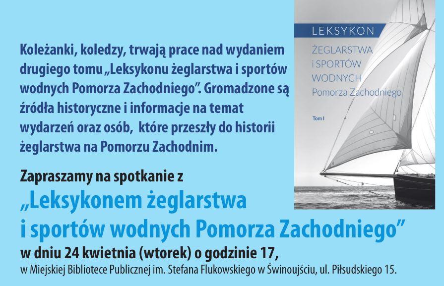 """Świnoujście. """"Leksykon Żeglarstwa i sportów wodnych Pomorza Zachodniego"""""""