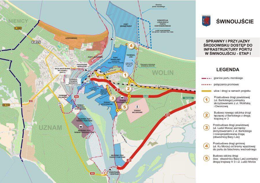 Świnoujście. Niemal 122 mln złotych dofinansowania na drogi na prawobrzeżu.