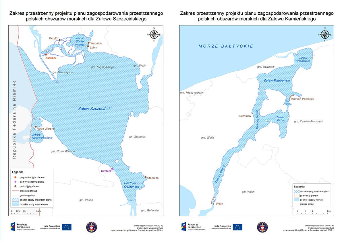 Wyłożenie projektów planów zagospodarowania przestrzennego dla Zalewu Szczecińskiego i Zalewu Kamieńskiego