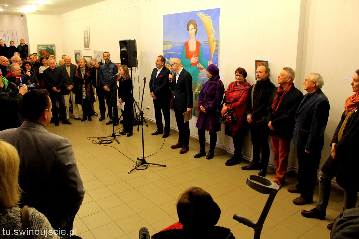 Eröffnung der Ausstellung-Nähe. Pobliże