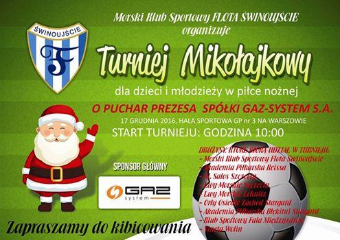 Turniej Mikołajkowy w hali gimnazjum