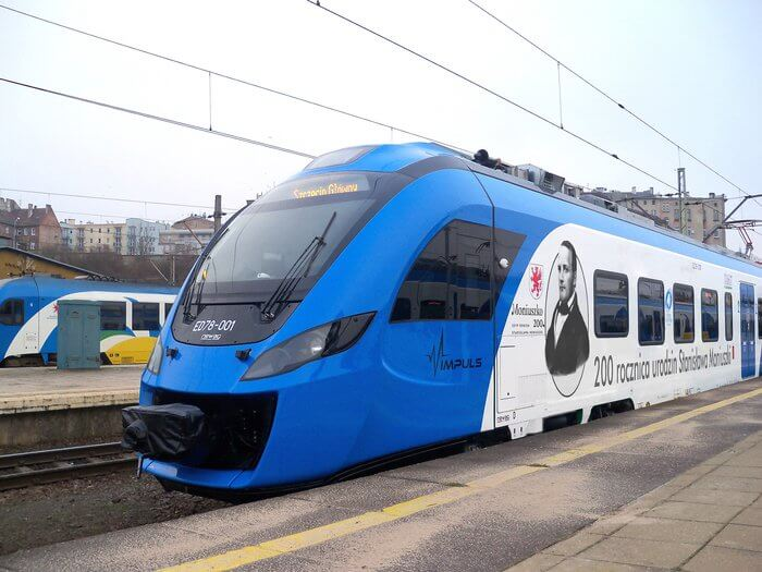 NADANIE IMIENIA S. MONIUSZKI POCIĄGOWI – Rok Moniuszkowski – Szczecin, Dworzec Główny