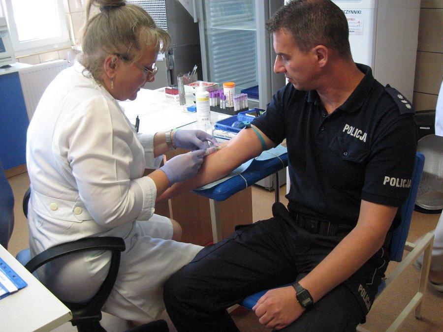 Świnoujscy policjanci oddawali krew