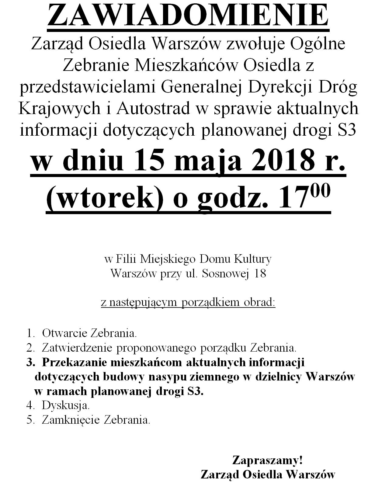 Zarząd Osiedla Warszów