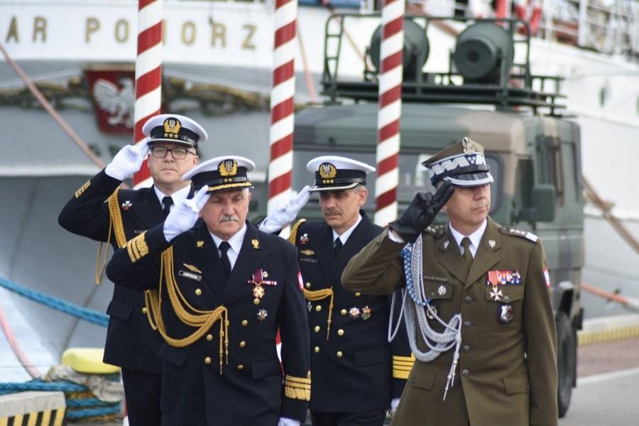 Przekazanie dowództwa na ORP Błyskawica