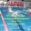 Świnoujście. Otwarte Zimowe Mistrzostwa w Pływaniu klas 2 i 3 Świnoujście 2019.