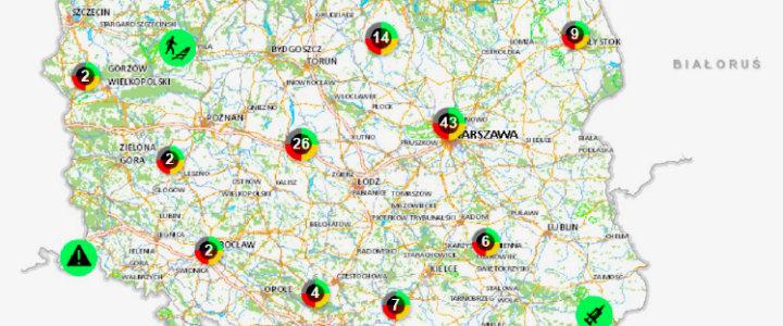 policja mapa zagrożeń