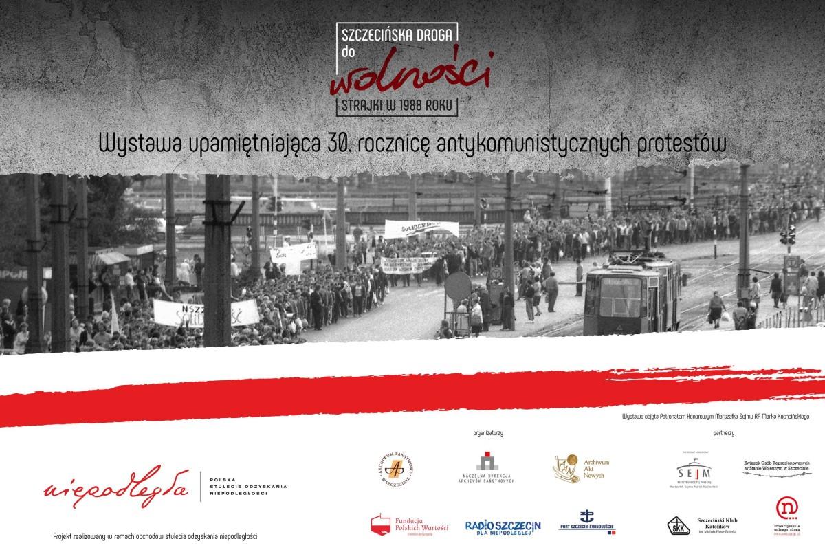 Wystawa o szczecińskich strajkach z 1988 roku
