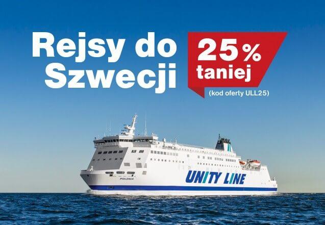 Świnoujście. Teraz taniej do Szwecji. 25% rabatu od Unity Line