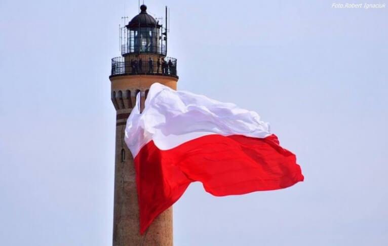Świnoujście: Flaga państwowa zawiśnie w niedzielę na latarni morskiej