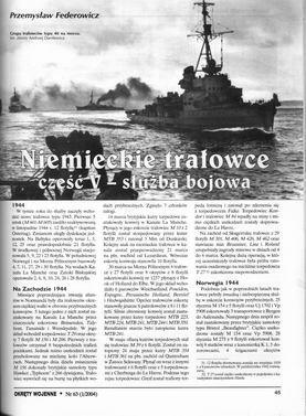 Niemieckie trałowce część V – służba bojowa