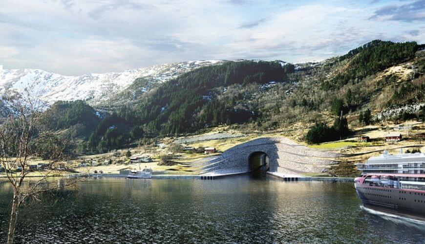 Jak będzie wyglądała żegluga przez pierwszy na świecie tunel dla statków?