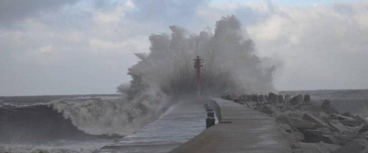 sztorm na Bałtyku