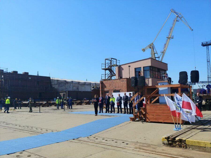 Szwedzki okręt SIGINT zwodowany w Gdyni (foto)