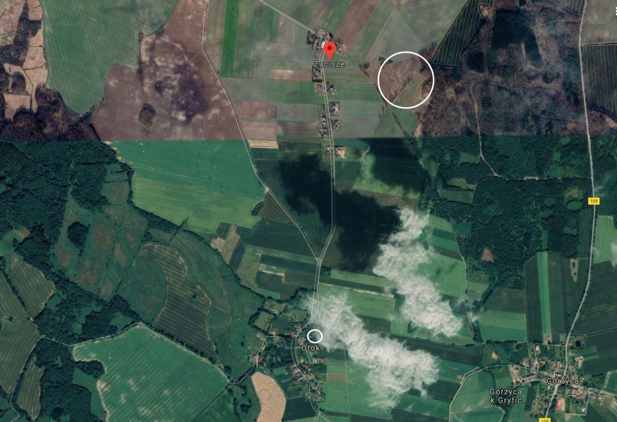 Zachodniopomorskie. Grunty rolne w Otoku i Zaciszu w pobliżu Gryfic.