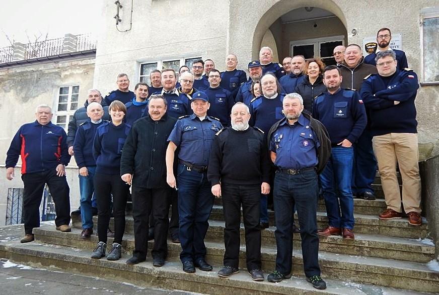 Spotkanie kapitanów, starszych oficerów i starszych mechaników Zawiszy Czarnego